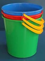 Ведро 10 л пластик цветное
