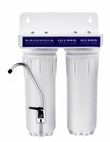 Проточный бытовой фильтр на две колбы GL(10-2)