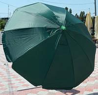 Зонт круглый с клапаном (2,4 м) для торговли, отдыха на природе (10 пласт. спиц, цвета в асс.) HZT /N-12