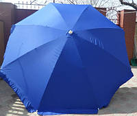 Зонт круглый без клапана (2,5 м) для торговли, отдыха на природе (10 пласт. спиц, цвета в асс.) HZT /N-02