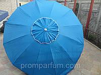 Зонт круглый с клапаном (3 м) для торговли, отдыха на природе (12 пласт. спиц, цвета в асс.) HZT /N-62