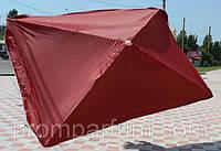 Зонт квадратный без клапана (2x2 м) для торговли, отдыха на природе (4 метал.спицы) HZT/N-32