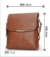 Мужская кожаная сумка POLO. Сумки кожаные. Кожанная cумка. Код:КС2-3