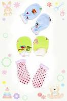 Детские рукавички царапки велюр для новорожденных