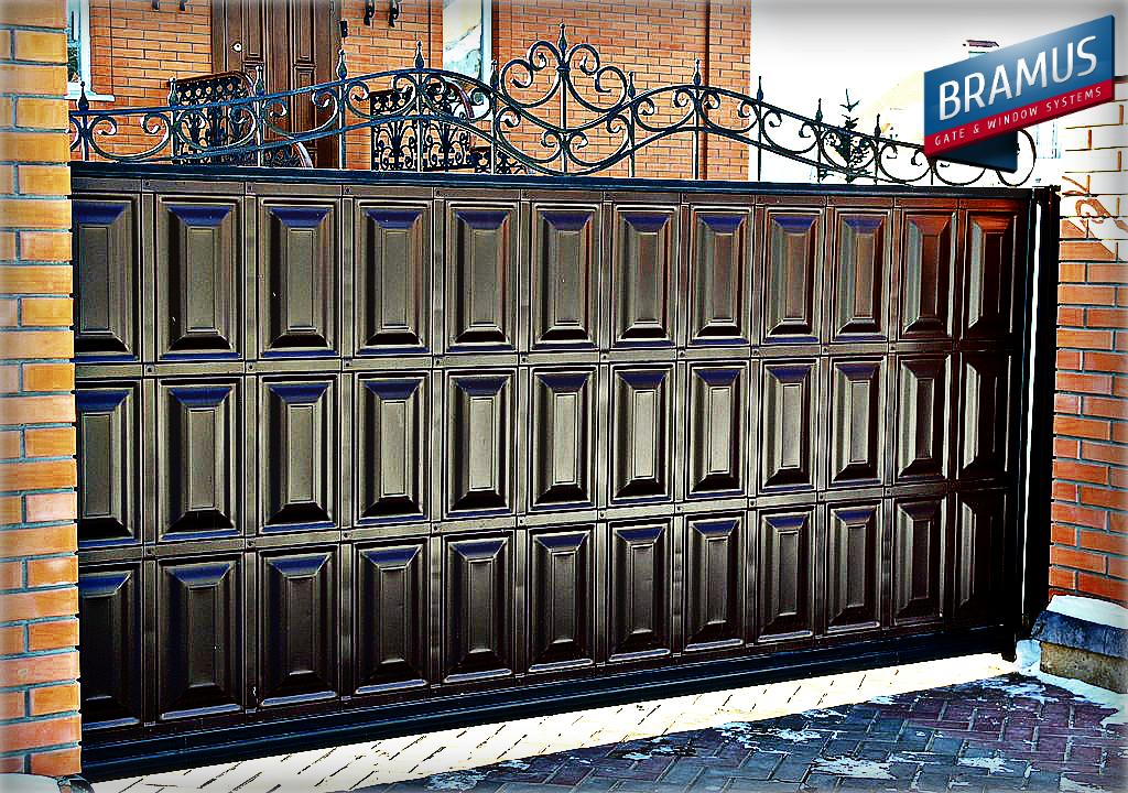 Распашные ворота дизайн