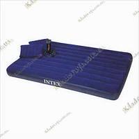 Надувной матрас Royal Blue, 152х203х22 INTEX – 68765 + 2 подушки и насос