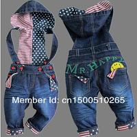 Стильный джинсовый комбинезон на 2-3 года