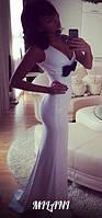 Платье в  пол с бантом