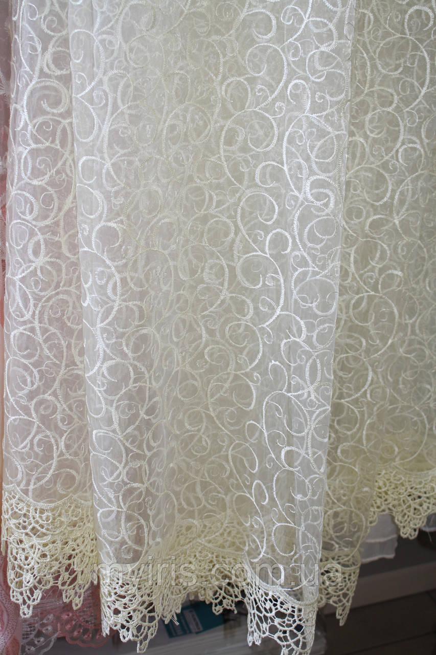 Тюль сетка с вышивкой для зала фото 46