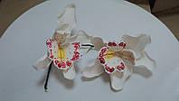 """Авторская работа""""Орхидея белая """" d110cм.(код 02116)"""