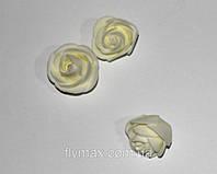 Головка розы латексная. Кремовая (500 шт.)