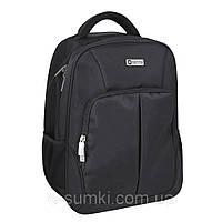 """Рюкзак деловой большой с отделением для ноутбука 17"""", черный, фото 1"""