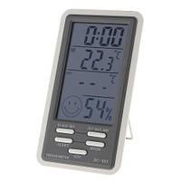 Цифровой термометр dc-803, гигрометр, часы, будильник, календарь, с наружным датчиком, длина провода 2 м
