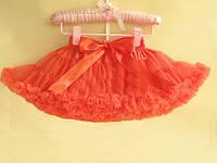 Пышная юбка для девочек оранжевая
