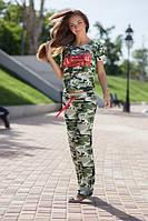 Женский Летний костюм камуфляж брюки кч700220