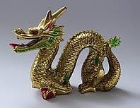 Дракон золотой с жемчужиной (22 см)