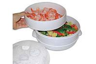 Двухуровневая пароварка для СВЧ Microwave Steamer