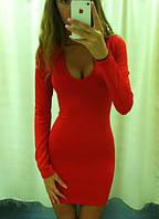 Платье короткое красное