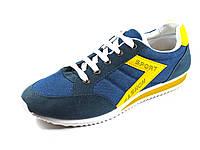 Кроссовки темно синие мужские текстиль спортивные, фото 1