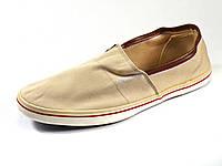 Мужские кеды бежевые текстиль шнурок, фото 1