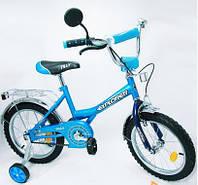 Двухколесный детский велосипед EXPLORER 16 дюймов BT-CB-0039 голубой с синим
