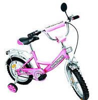 Двухколесный детский велосипед EXPLORER 14 дюймов BT-CB-0031 розовый с серебряным