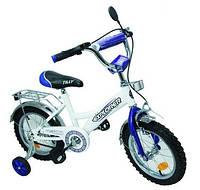Двухколесный детский велосипед EXPLORER 14 дюймов BT-CB-0027 белый с синим