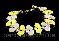 Женский браслет желто-бежевый