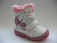 Зимние ботиночки для девочек ТМ B&G 23,24р.