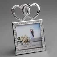 """Красивая фоторамка """"Сердечки"""" для свадебного фото"""