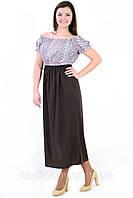 Платье, интернет магазин женской одежды, прошва, хлопок, платье в кантри стиле, белое, длинное, пл 152.