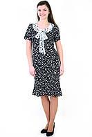 Платье в горошек, интернет магазин женской одежды, хлопок, длинное, пл 155, годе.