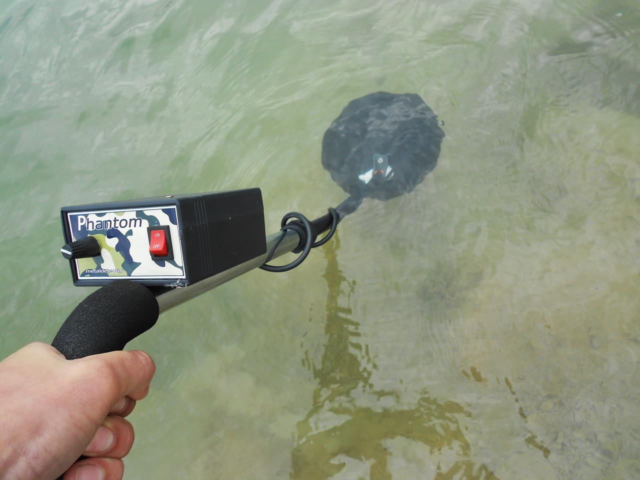 Металлоискатель импульсный с водонепроницаемой катушкой мета.