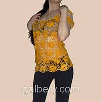 Вязаная летняя блуза ручной работы