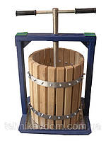 Пресс для сока Вилен 20л с деревянной корзиной