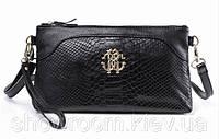 Клатч - сумка Roberto Cavalli (черный цвет)