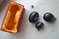 Тренажер для вумбилдинга, нефритовые яйца, вагинальные тренажеры для влагалища из черного нефрита Бяньши.