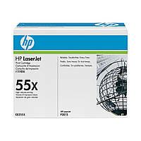 CE255X (55X) для HP LJ P3015 series оригинальный увеличенный картридж HP