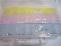 Органайзер для фурнитуры с вкладышем 2в1 с отдельными ячейками
