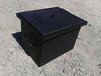 Коптильня с гидрозатвором для горячего копчения окрашенная (400х310х280). 600+С