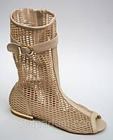 Женские летние сандалии сапоги с открытым носком, сапоги, летняя обувь оптом