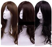 Парик - длинные волнистые волосы, цвет - черный