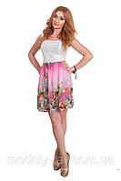 Молодежное платье цветочный принт