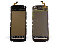 Сенсорный экран для Nokia 5800 Хорошая копия Чёрный