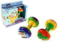 """Детская развивающая игрушка погремушка гантели """"Малыш крепыш"""""""