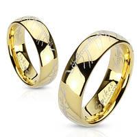 Кольцо Всевластия Spikes из стали, золотое покрытие