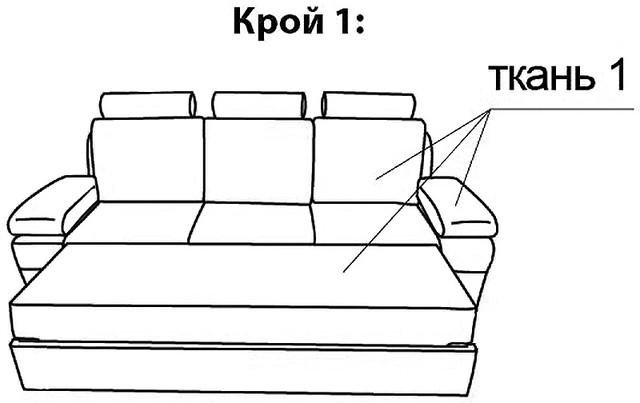 Схема раскладывания дивана с
