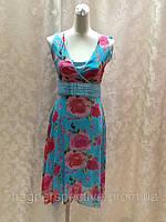 Летнее платье в розах