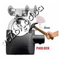 Навесной замок со встроенной системой сигнализации и сиреной Alarm Lock 110 дБ