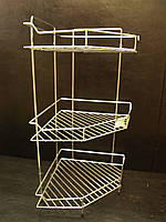 Полка тройная угловая на ножках 58,5*28*28 см для ванной